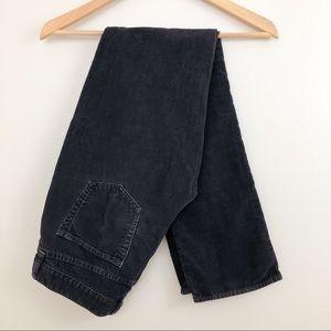 J. Crew City Fit Corduroy Black Pants 26R
